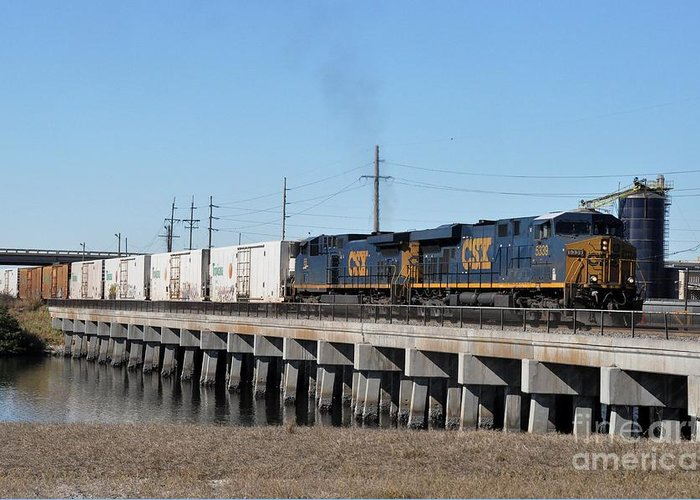 Csx Greeting Card featuring the photograph Juice Train by John Black