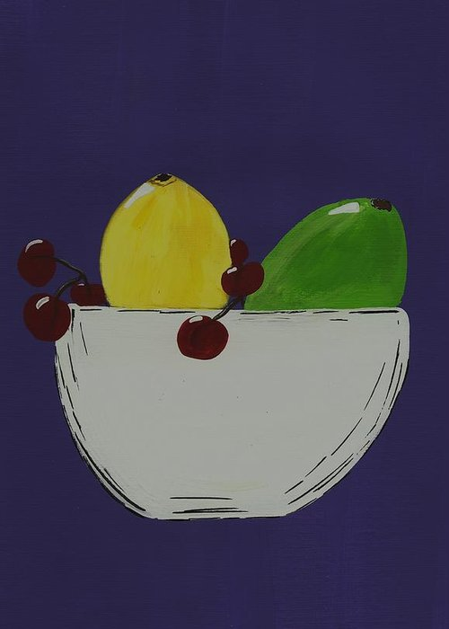 Fruit Greeting Card featuring the painting Juicy Fruit by Katie Slaby