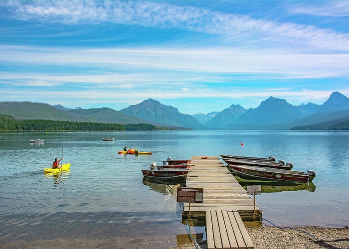 Montana Greeting Card featuring the photograph July 4th on Lake McDonald by Bryan Spellman