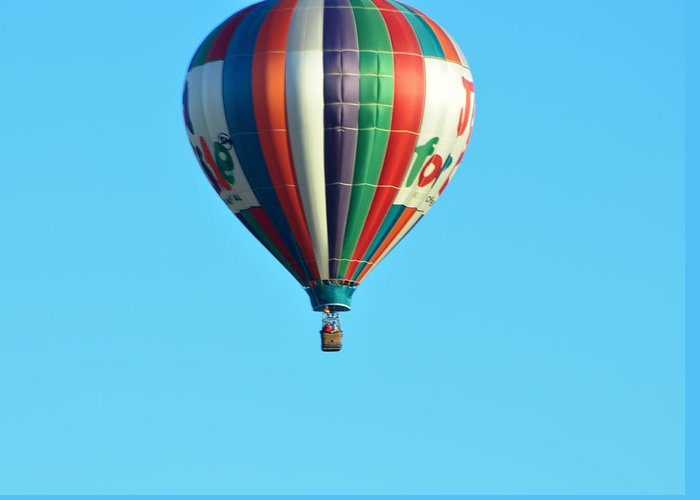 Hot Air Balloons Greeting Card featuring the photograph Jump For Joy by Jan Amiss Photography