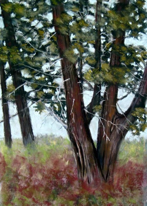 Landscape Greeting Card featuring the painting Juniper by Carl Capps