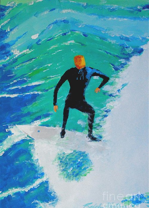 Beach Art Greeting Card featuring the painting Just Another Ride by Art Mantia