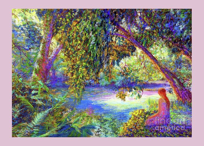 Woodland Greeting Card featuring the painting Just Be by Jane Small