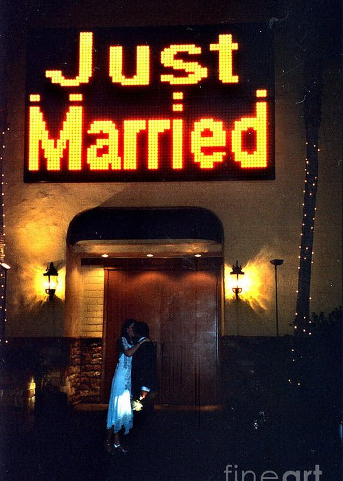 Las Vegas Greeting Card featuring the photograph Just Married by Andrea Simon