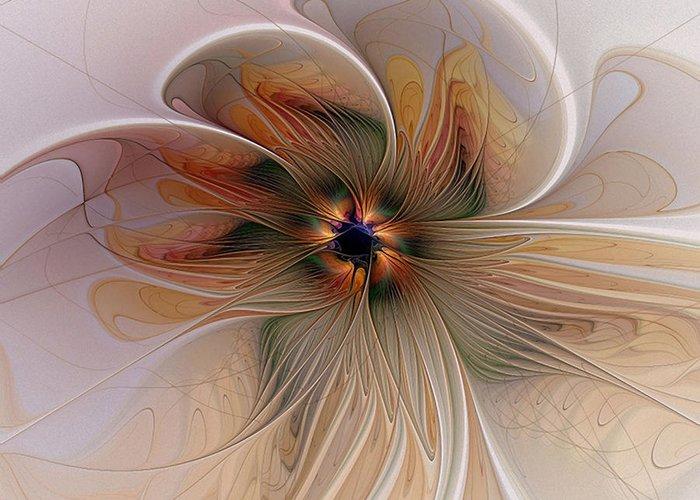 Digital Art Greeting Card featuring the digital art Just Peachy by Amanda Moore