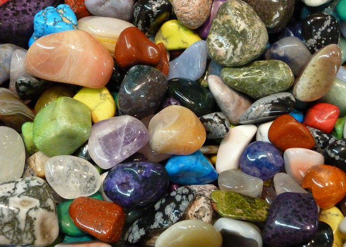 Stones Greeting Card featuring the photograph Just Stoned by Florene Welebny