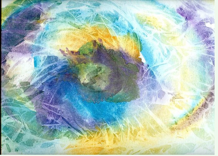 Surf Greeting Card featuring the painting Just Trippin by Laura Johnson