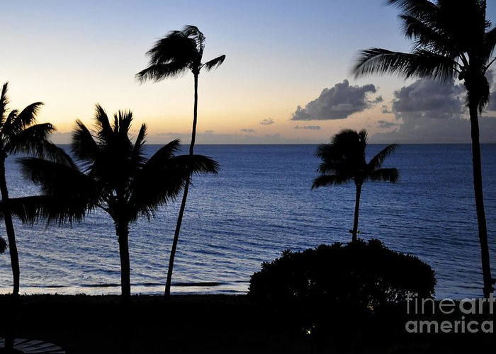 Maui Greeting Card featuring the photograph Ka'anapali Beach Maui by Rosy Kueng