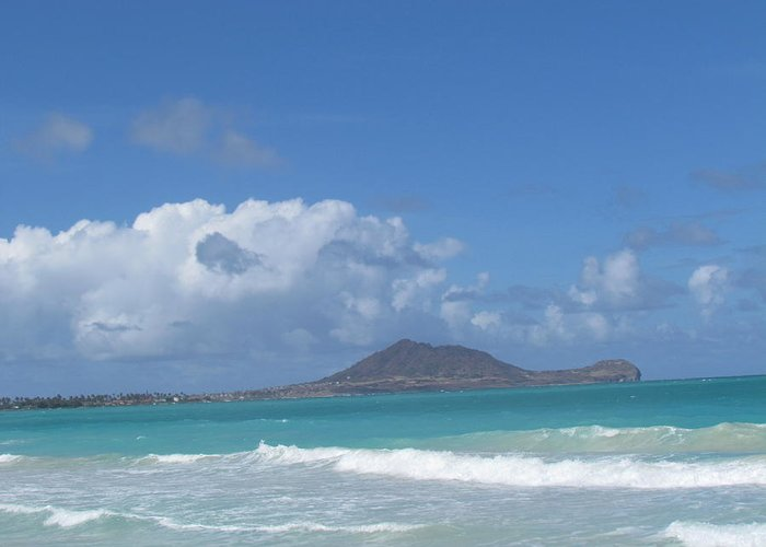 Hawaii Greeting Card featuring the photograph Kailua by Christina McNee-Geiger