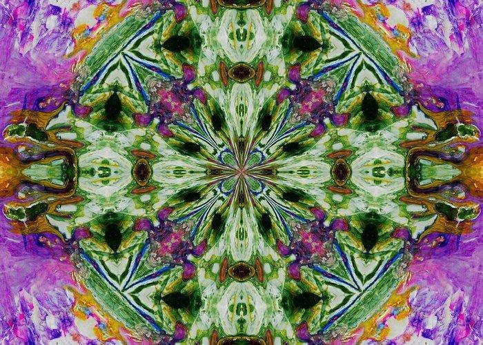 Lori Kingston Greeting Card featuring the digital art Kaleidoscope 1 by Lori Kingston