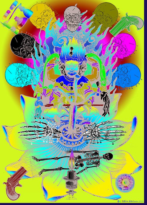 Eastern Greeting Card featuring the digital art Kali Yuga by Eric Edelman
