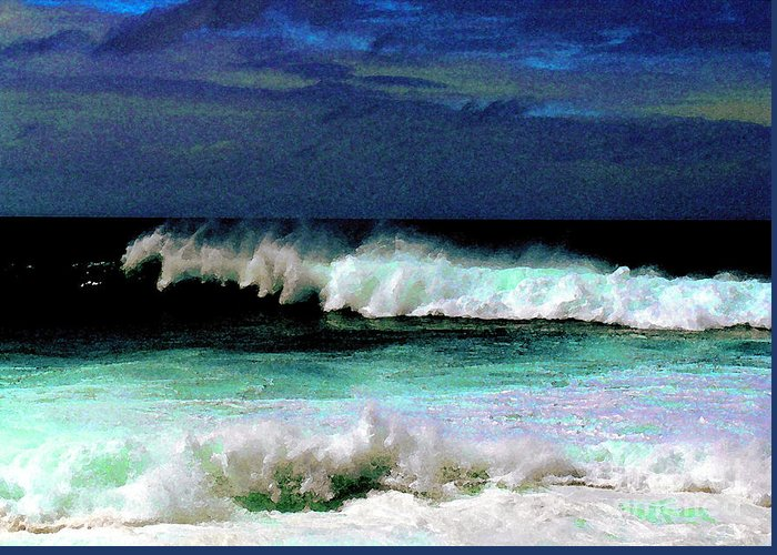 Waves Greeting Card featuring the photograph Kaluakoi Surf by James Temple