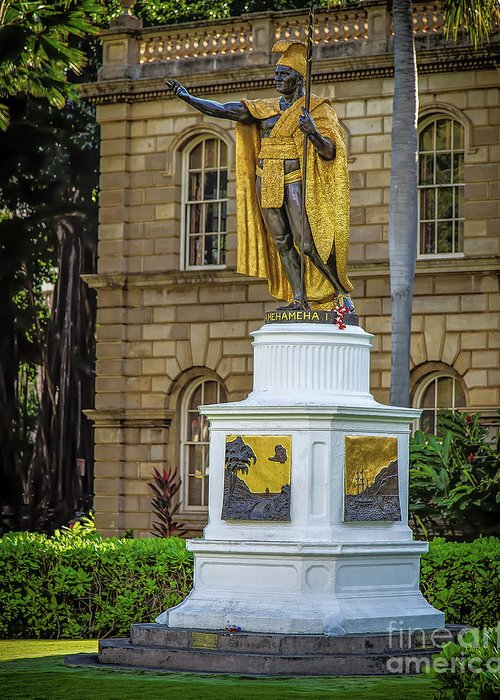 Kamehameha The Great Greeting Card featuring the photograph Kamehameha The Great by Jon Burch Photography