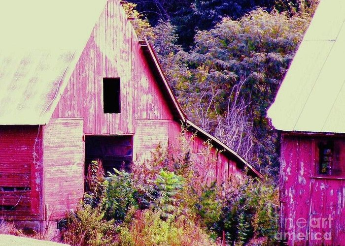 Barns Greeting Card featuring the photograph Kansas Country by Christine Belt