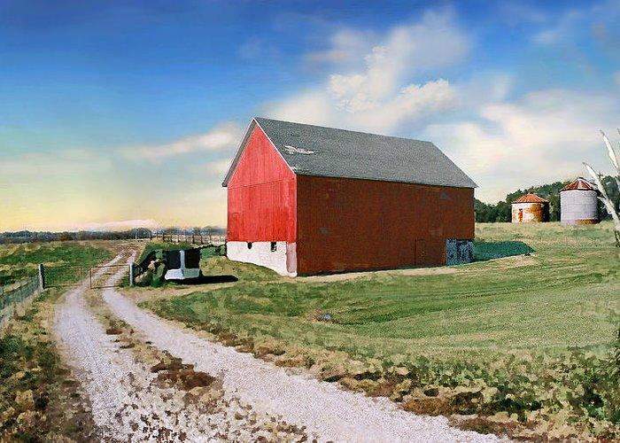 Barn Greeting Card featuring the photograph Kansas Landscape II by Steve Karol