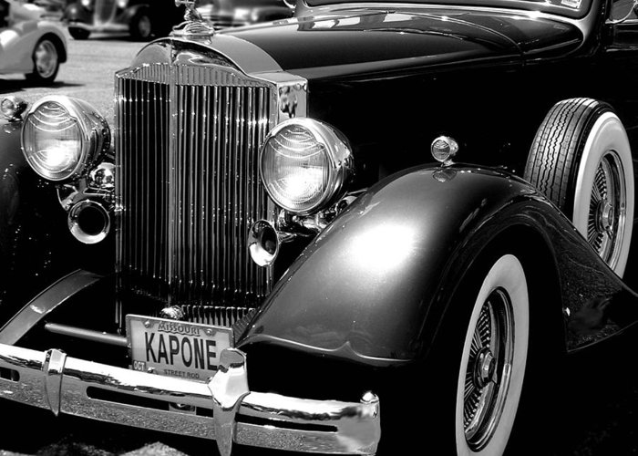 Car Greeting Card featuring the photograph Kapone by Audrey Venute