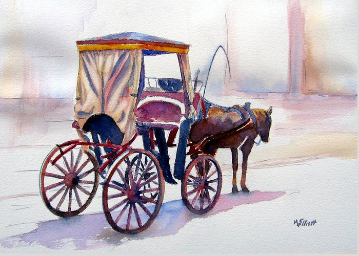 Carriage Horse Greeting Cards