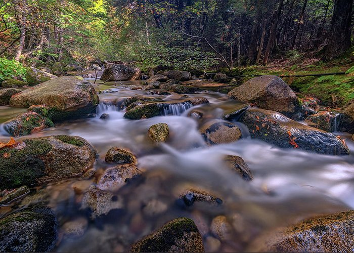 Waterfall Greeting Card featuring the photograph Katahdin Stream by Rick Berk