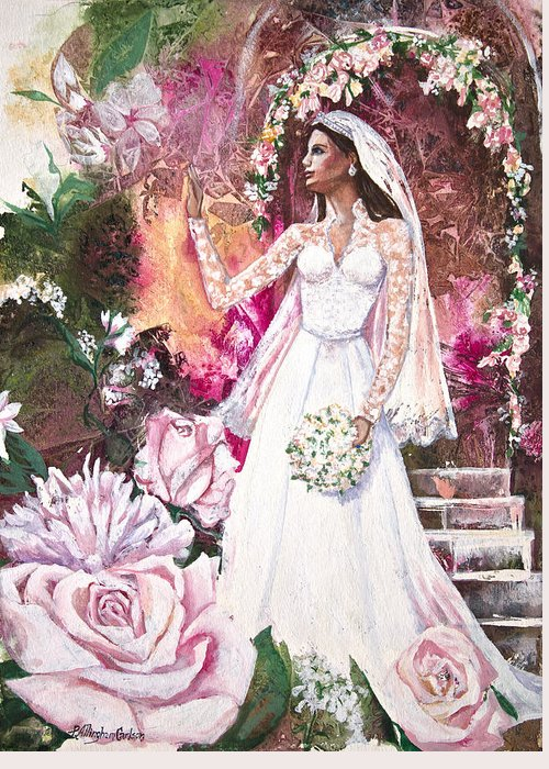 Patricia Allingham Carlson Greeting Card featuring the painting Kate The Princess Bride by Patricia Allingham Carlson