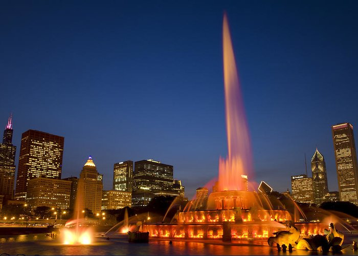 Chicago Greeting Card featuring the photograph Kates Memorial To Clarence by Donald Schwartz