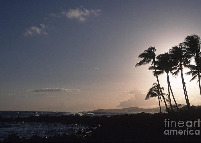 Hawaii Greeting Card featuring the photograph Kauai Sunset by Stan and Anne Foster