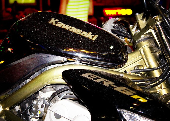 Style Greeting Card featuring the photograph Kawasaki by Stelios Kleanthous
