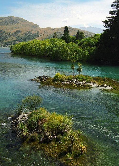 Clean Greeting Card featuring the photograph Kawerau River by Kevin Smith