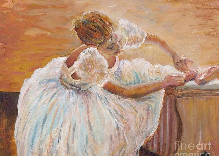 Dancer Greeting Card featuring the painting Kaylea by Nadine Rippelmeyer