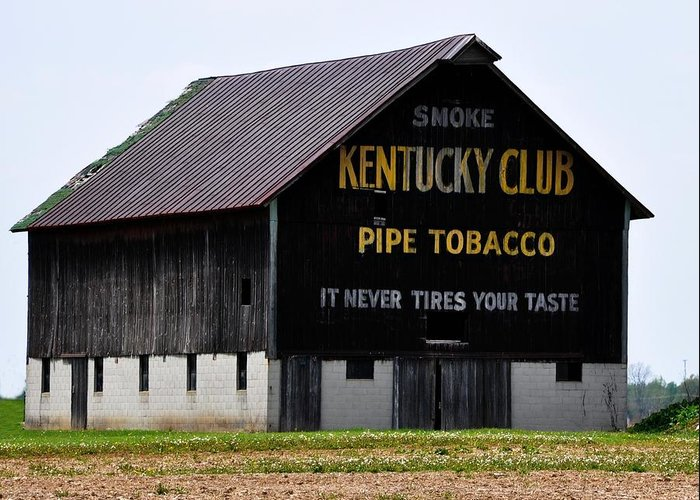 Kentucky Club Pipe Tobacco Barn Greeting Card for Sale by ...