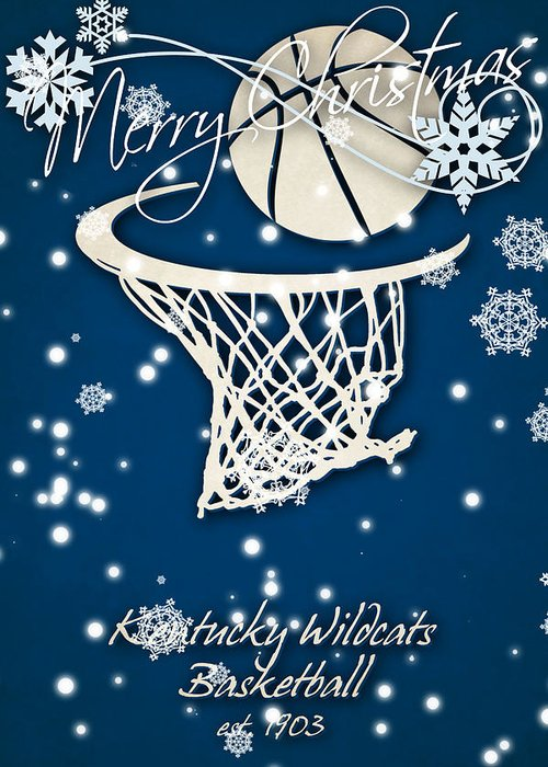 kentuck wildcats greeting card featuring the photograph kentucky wildcats christmas card by joe hamilton - Christmas Card Sale