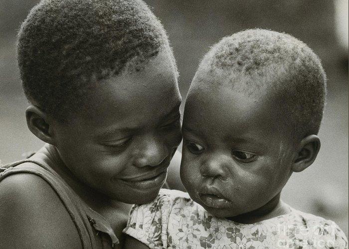 Erik Greeting Card featuring the photograph Kenya Sisters by Erik Falkensteen