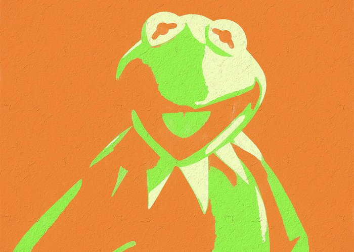 Kermit the frog greeting card for sale by dan sproul kermit the frog pop art greeting card featuring the mixed media kermit the frog by dan m4hsunfo