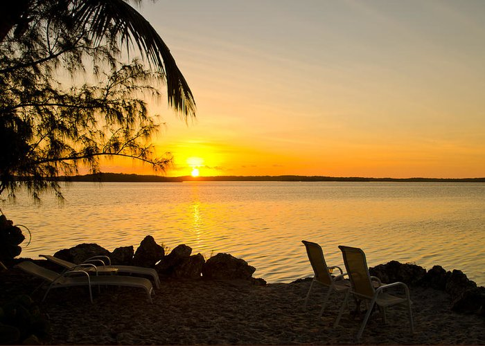 Sunrise Greeting Card featuring the photograph Key Largo Sunrise by Chris Thaxter