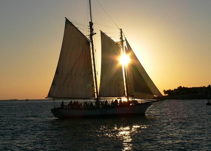 Sunset Greeting Card featuring the photograph Key West by Deborah Carroll