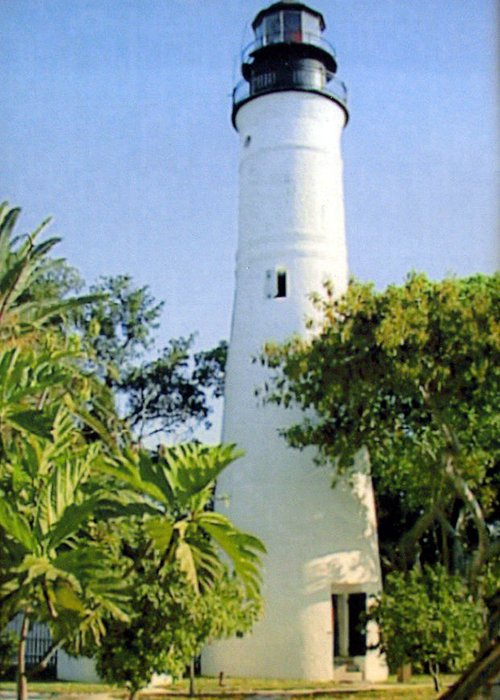 Lighthouse Photographs Greeting Card featuring the photograph Key West Light by Frederic Kohli
