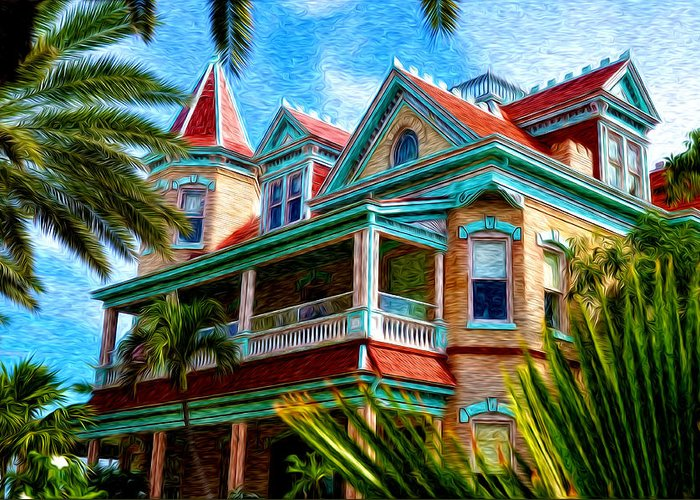 Key West Southern Most Hotel Greeting Card featuring the photograph Key West Southern Most Hotel by Bill Cannon