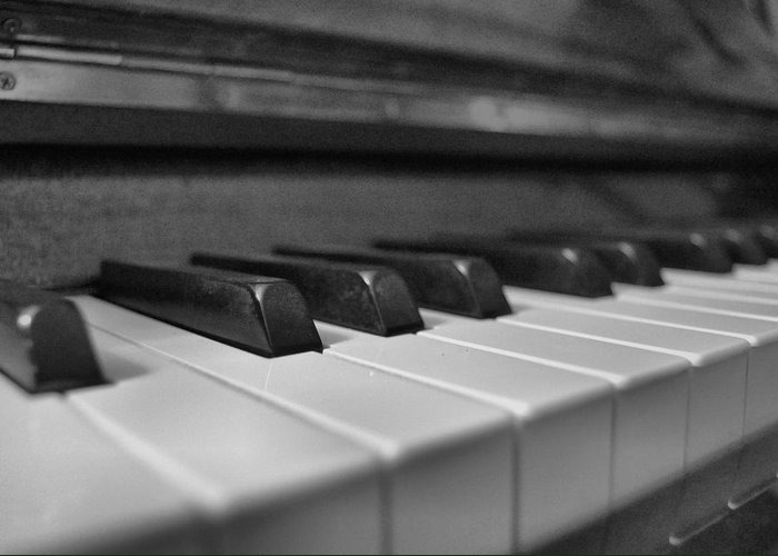 Keys Greeting Card featuring the photograph Keys To The Piano by JAMART Photography