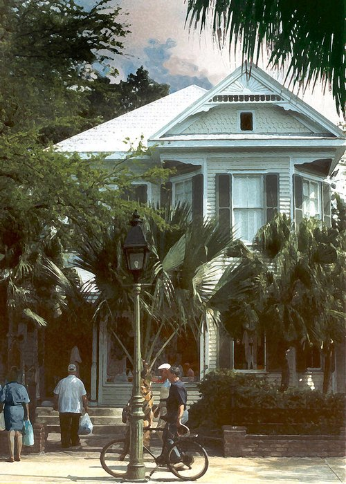 Historic Greeting Card featuring the photograph Keywest by Steve Karol