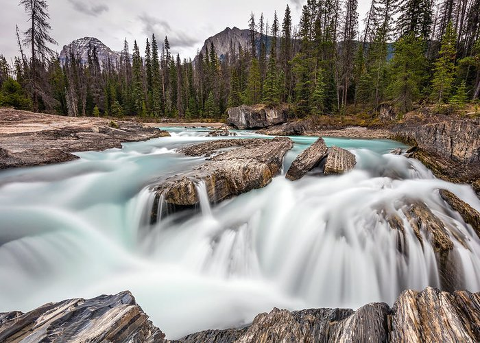 5dsr Greeting Card featuring the photograph Kicking Horse River Cascades by Pierre Leclerc Photography