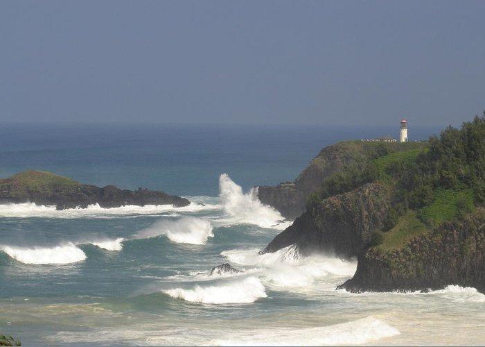 Kauai Greeting Card featuring the photograph Kilauea Lighthouse by Andrew Pendleton