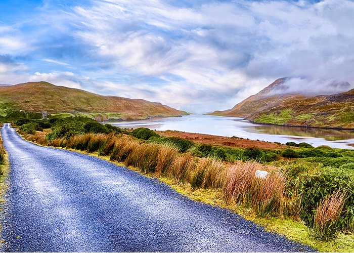 Galway Greeting Card featuring the photograph Killary Fjord In Ireland's Connemara by Mark E Tisdale