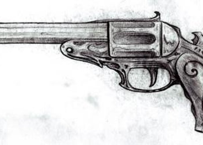 Gun Greeting Card featuring the drawing Killer Instinct by Will Le Beouf