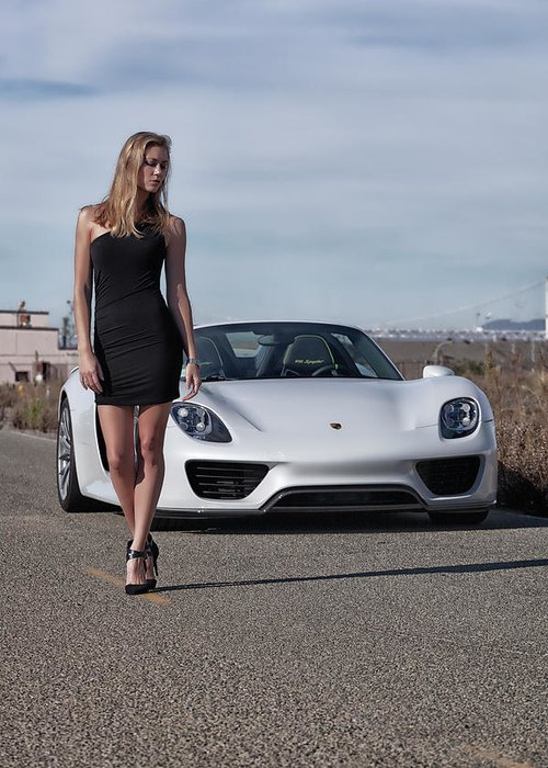 Kim Greeting Card featuring the photograph #kim And #porsche #918spyder #print by ItzKirb Photography