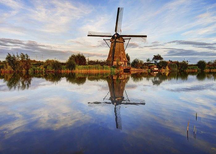 Zuid-holland Greeting Card featuring the photograph Kinderdijk by Chad Dutson
