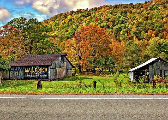 West Virginia Greeting Card featuring the photograph Kindred Barns by Steve Harrington