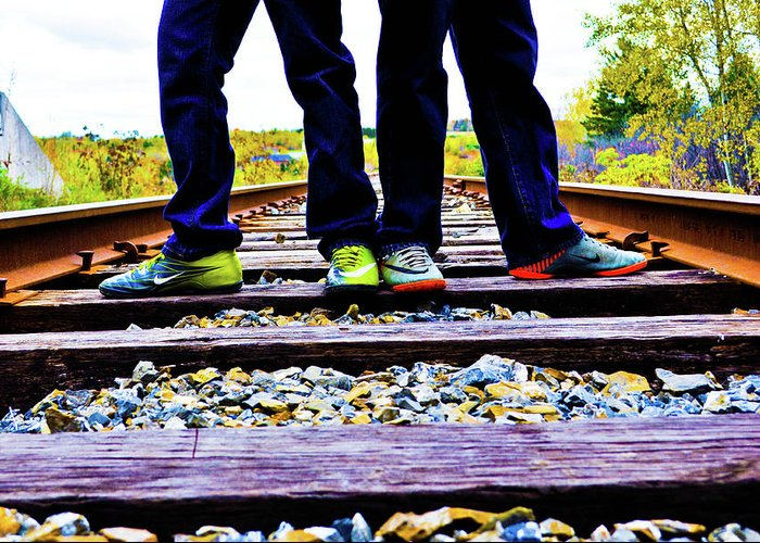 Train Greeting Card featuring the photograph Kindred Ties by Ragina Kakos