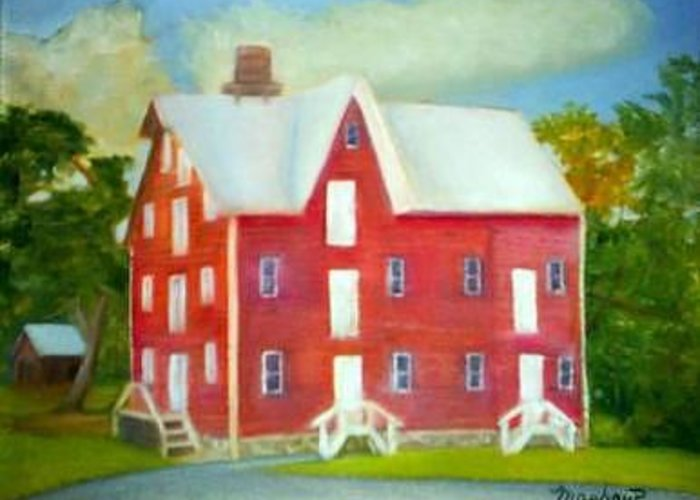 Kirby Mill Greeting Card featuring the painting Kirby's Mil by Sheila Mashaw