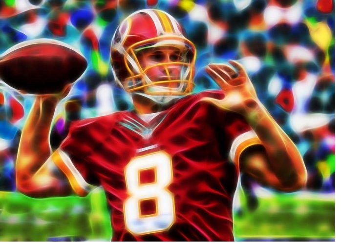 Washington Redskins Greeting Card featuring the painting Kirk Cousins by Paul Van Scott