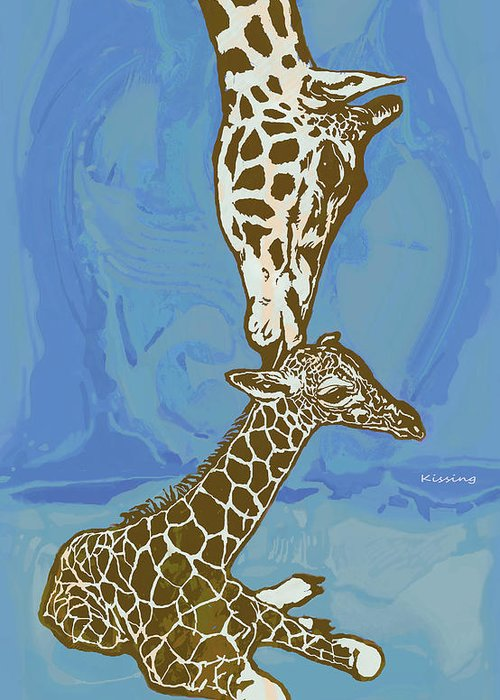 Giraffe Abstracts Greeting Cards