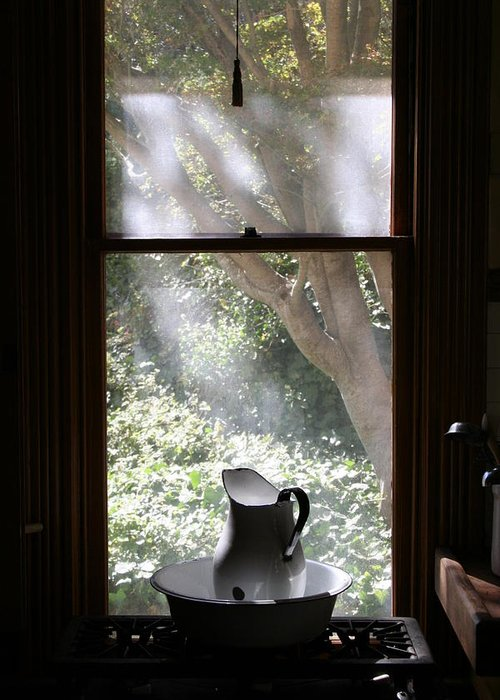 Still Life Greeting Card featuring the photograph Kitchen Window by Brande Barrett